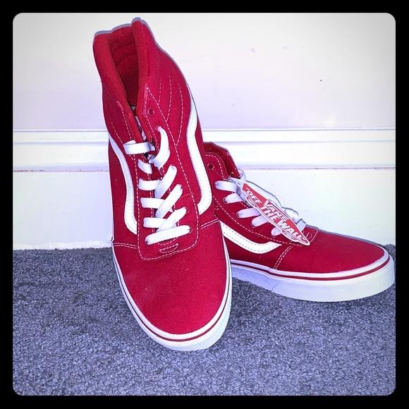 Vans Shoes   Kids Red High Top   Poshmark